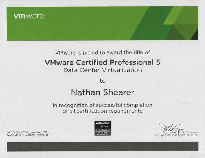 VMware Certified Professional 5 Data Center Virtualization VCP5-DCV